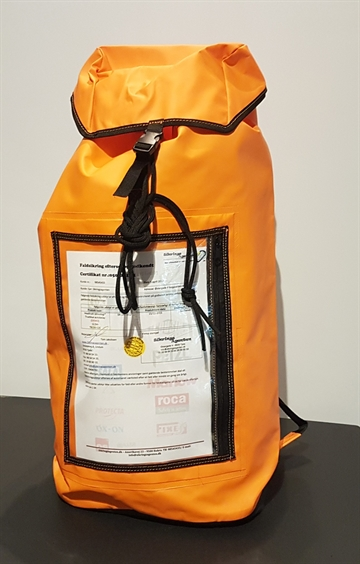 Orange back pack industri