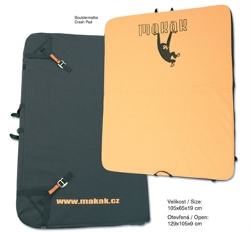 Boulder madress 129x105x9 cm open Crash pad MAKAK ., Sikringsagenten